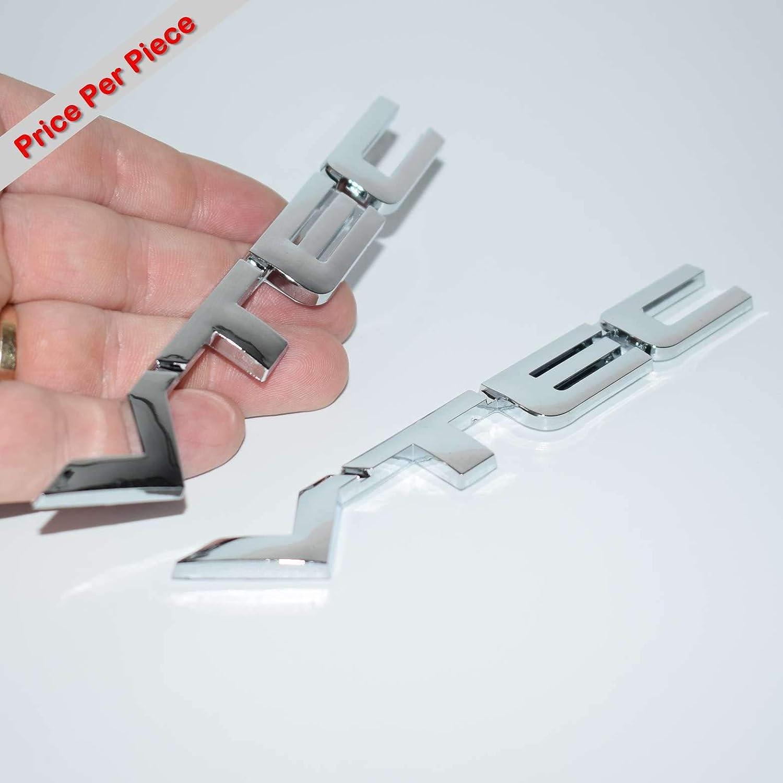 2 X 3D CHROMED VTEC TUNING DECAL EMBLEM FENDER TAILGATE TRUNK