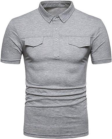 Camisa Polo De Los Hombres Camisetas De Manga Corta Camisas Polo De Golf Casuales: Amazon.es: Ropa y accesorios