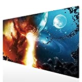 Cmhoo XXL Professional Large Mouse Pad & Computer Game Mouse Mat (35.4x15.7x0.1IN, 90x40 fireball007)