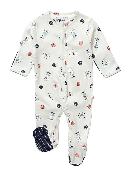 Piccalilly, Mameluco de Manga Larga con los pies, Jersey de algodón orgánico, bebé