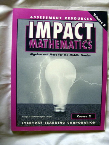 Impact Mathematics: Course 2, Assessment Resources, V. B, 2001 pdf