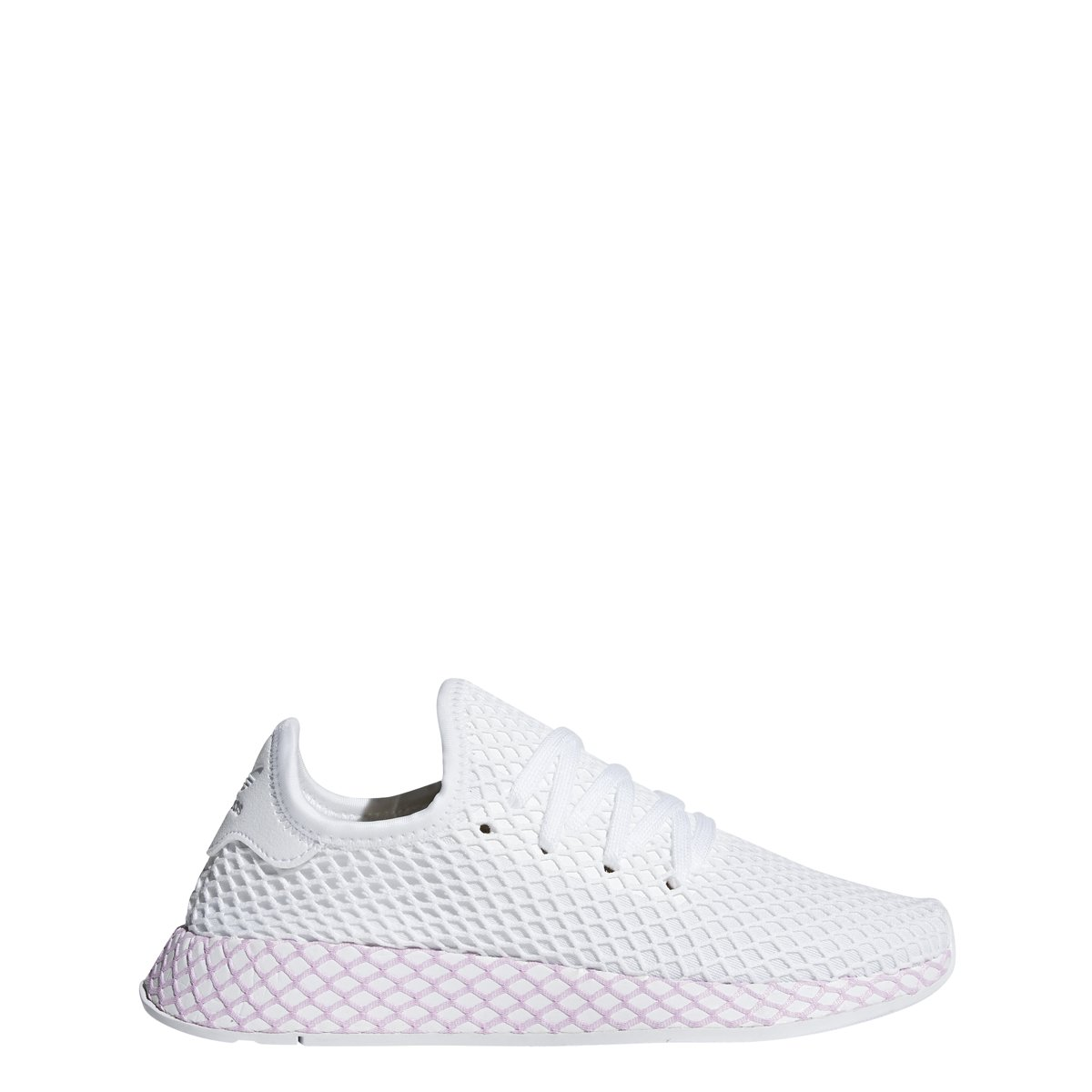 adidas Womens DEERUPT W White/Whie/Lilac - B37601 (7.5)