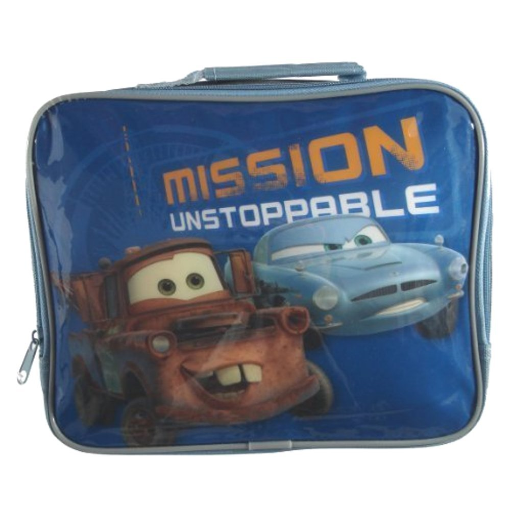 Disney Boys Cars 2 Mission Unstoppable Insulated Lunch Bag Blue zEighteen