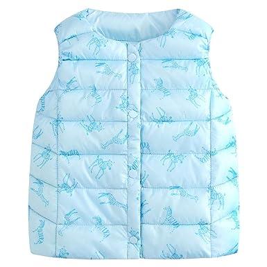 0f123187c8ac LSERVER Kids Animal Bodywarm Down Gilet Boy Girl Puffer Down Vest ...