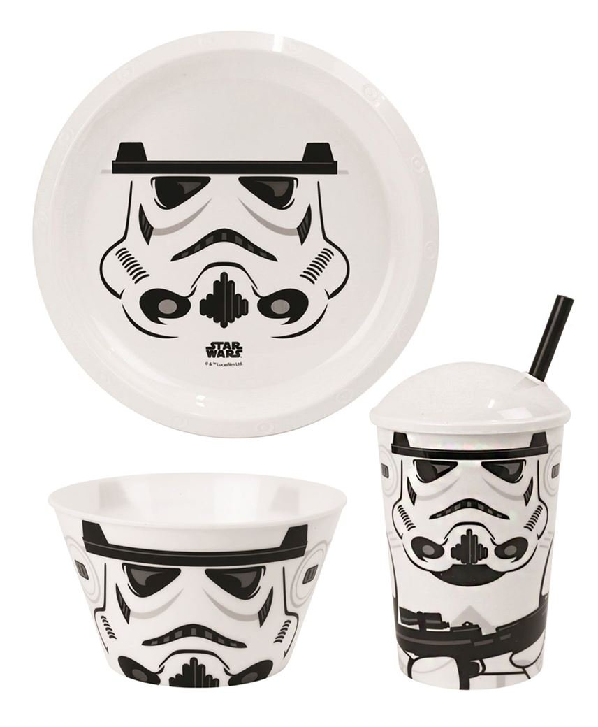 lotmart Kids LicensedプラスチックプレートBowls and Tumblers withストローBoys GirlsスーパーヒーローCartoon Characters and Freeギフトlotmartプロモーションペン区画ごと 1 BUNDLE 1 BUNDLE Storm Trooper B074P6NGLH