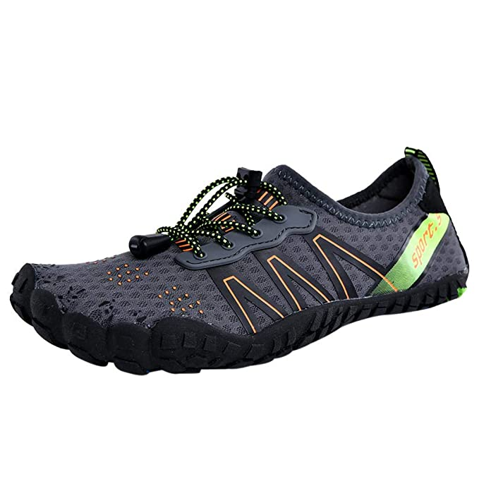 VPASS Mens Womens Barefoot Water Shoes Couple Wading Shoes Sport Diving Beach Snorkeling Swimming Quick Drying Slip On Shoes Casual Flat Beach Shoes Lightweight Running Surfing Yoga Shoe