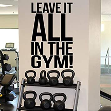 Qixidan Let It Up Up In The Gym Tatuajes De Pared Gimnasio