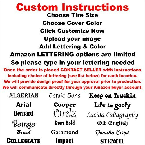 Custom Spare Tire Cover for Jeep RV Camper VW Trailer etc(Select popular sizes from drop down menu or contact us-ALL SIZES AVAILABLE)Tire Cover Central by Tire Cover Central (Image #4)