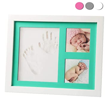 Amazon.com : Premium Baby Handprint, Footprint & Picture Frame Kit ...