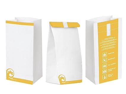 Bolsas descartables, con cierre, para vomitar, de Oqard, paquete de 50 unidades