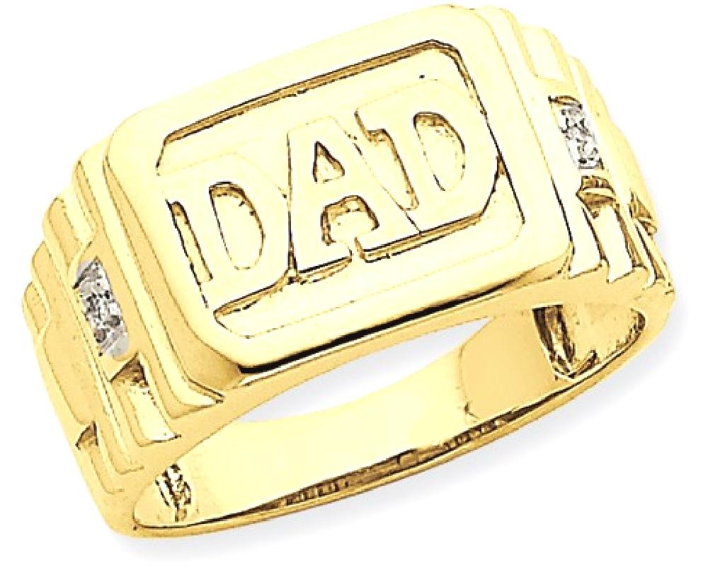 ICE CARATS 14k Yellow Gold Diamond Mens Band Ring Size 11.00 Man Dad Fine Jewelry Dad Mens Gift Set