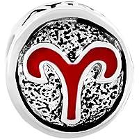 Q&Locket 12 Horoscope Zodiac Sign Logo Charm Bead Bracelet