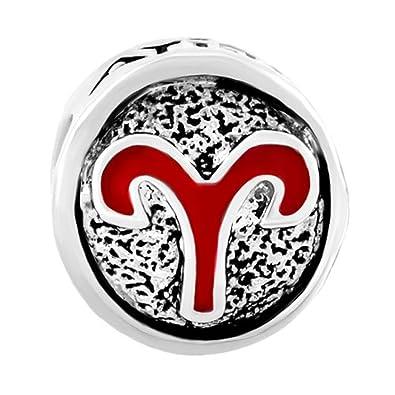 Q&Locket 12 Horoscope Zodiac Sign Logo Charm Bead for Bracelet