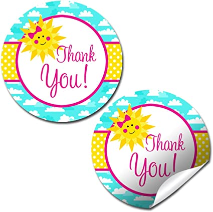 40 2 Party Circle Stickers; Great for Party Favors Envelope Seals Watercolor Luau Party Thank You Sticker Labels Goodie Bags