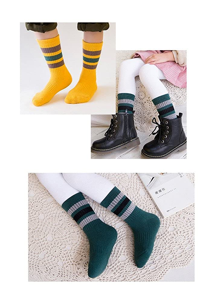 Always Pretty Breathable Childrens 5-Pairs Socks Winter Thick Warm Sports Socks