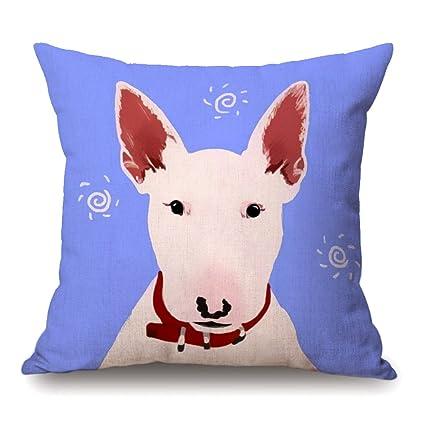 maplehouse Custom Bull Terrier patrón, un perro como Honglei sol fundas de almohada cojín 45