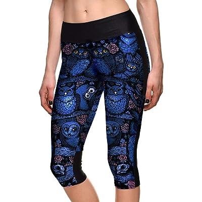 2019 Señoras Hombres Mujeres Adecuado Primavera Mujeres Primavera Verano Búho Modernas Casual Patrón Impresión Digital Flaco Yoga Leggings Deportivos: Ropa y accesorios