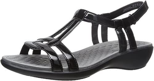 Details about  /Clarks Collection T-Strap Sandals Sonar Aster Black  7 M