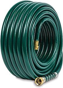 Gilmour 824751-1001 Flexogen Heavy Duty Watering Garden Hose 1/2in x 75 Feet, Green