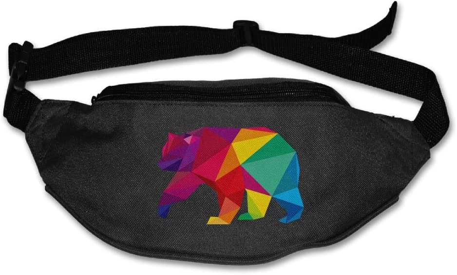 Colorful Elephant Sport Waist Packs Fanny Pack Adjustable For Travel