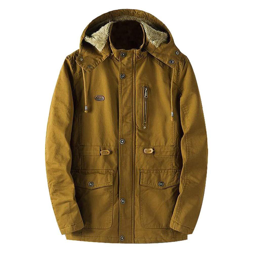 Los Hombres Chaqueta de Abrigo de Invierno cálido Outwear Delgado Larga Zanja Botones de Cremallera Capa de Internet: Amazon.es: Ropa y accesorios