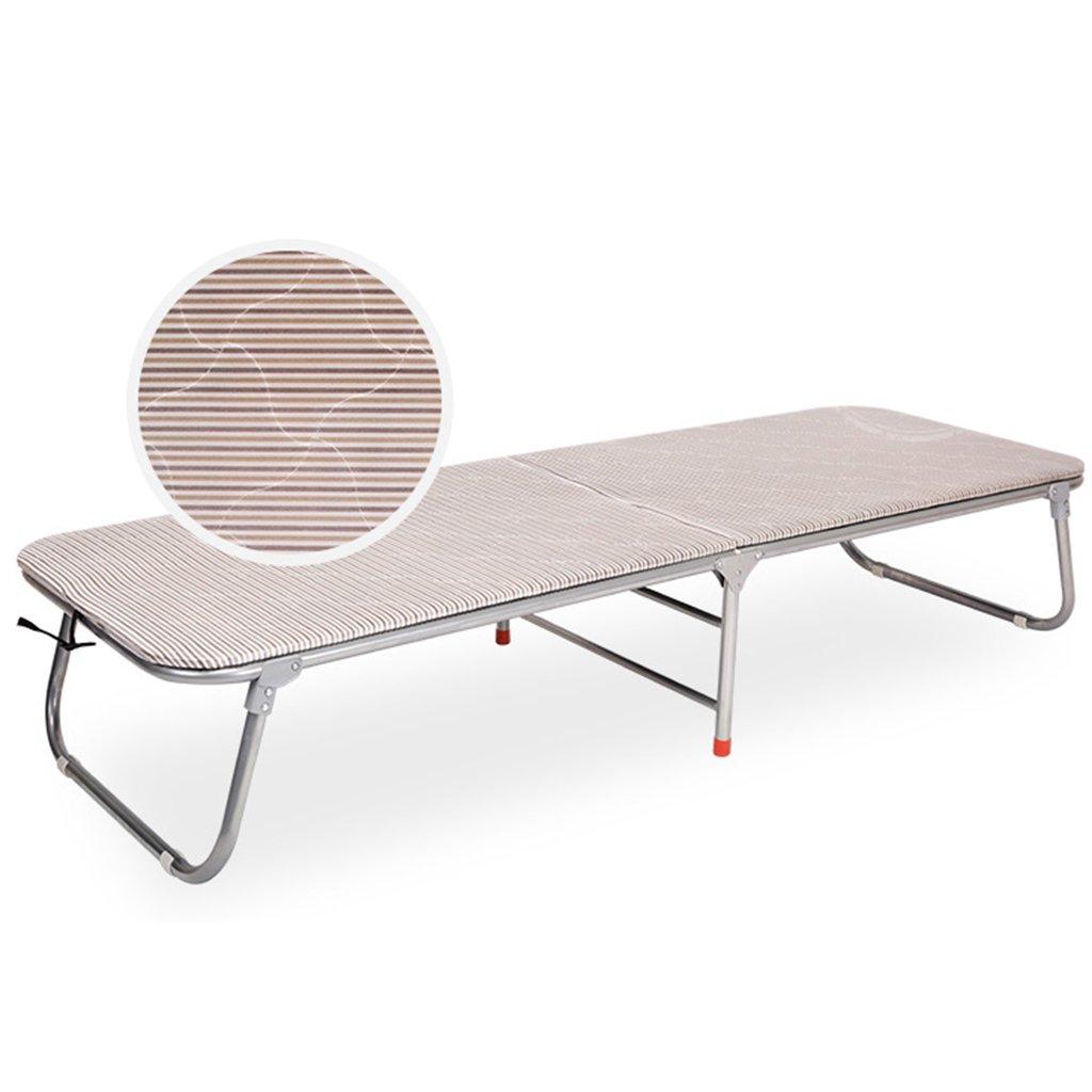 Stühle Klappbett hartes Holz Platte Typ Bett einfach Einzel Erwachsene Tragbare Schlaf Bett nach Hause Klappbett (Farbe : A, Größe : 183  65  35CM)