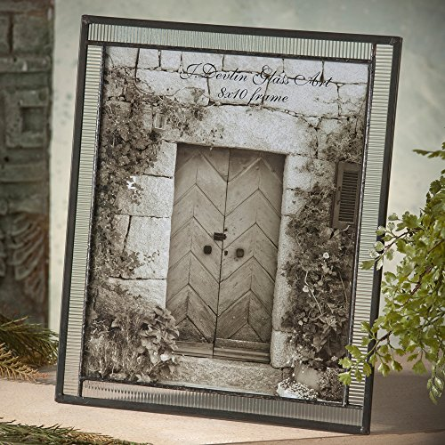 J Devlin Pic 322 Series Clear Stained Glass Photo Frames Available in 4x6, 5x7, 8x10 picture sizes (8x10 - Glasses Pics Teen