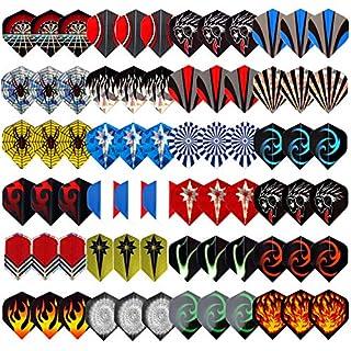 L.E.D STEP 24 Sets (72 Pieces) Darts Flights Darts 2D and 3D Aluminium Darts Flights Sets Assorted Wholesale