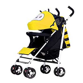 a10406e41 Amazon.com   Yingerche Baby Stroller can sit Lie Ultralight Portable Shock  Absorber Folding Four-Wheeled Baby Child Small Hand Push Baby Stroller bb  ...