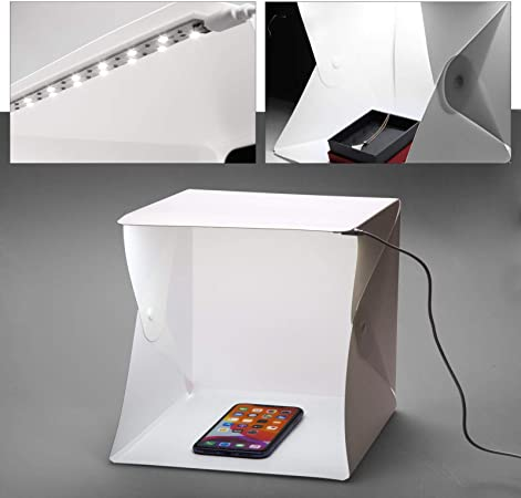 Photo Estudio Carpa Mini Fotografía de Caja de luz LED en 8.8x9 ...