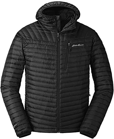 Eddie Bauer Mens MicroTherm 2.0 Down Hooded Jacket