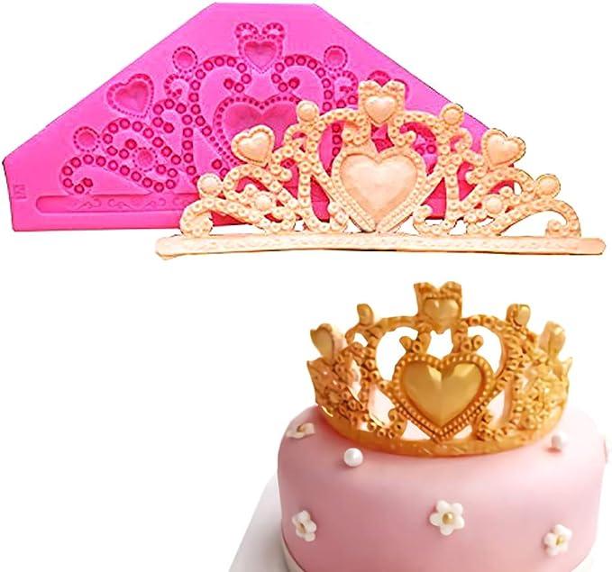 2X 3D DIY Royal Crown Silicone Fondant Mould Cake Cupcake Decor Epoxy Mold  A