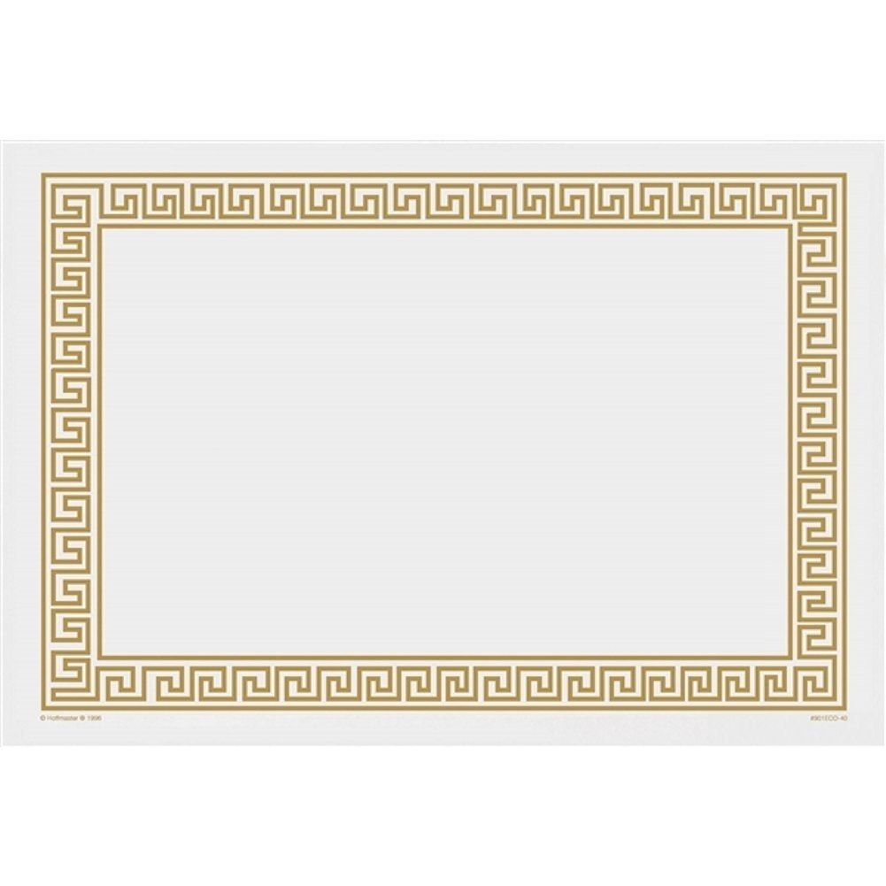 Gold Greek Key Paper Placemats - 14in. X 10in. (75)