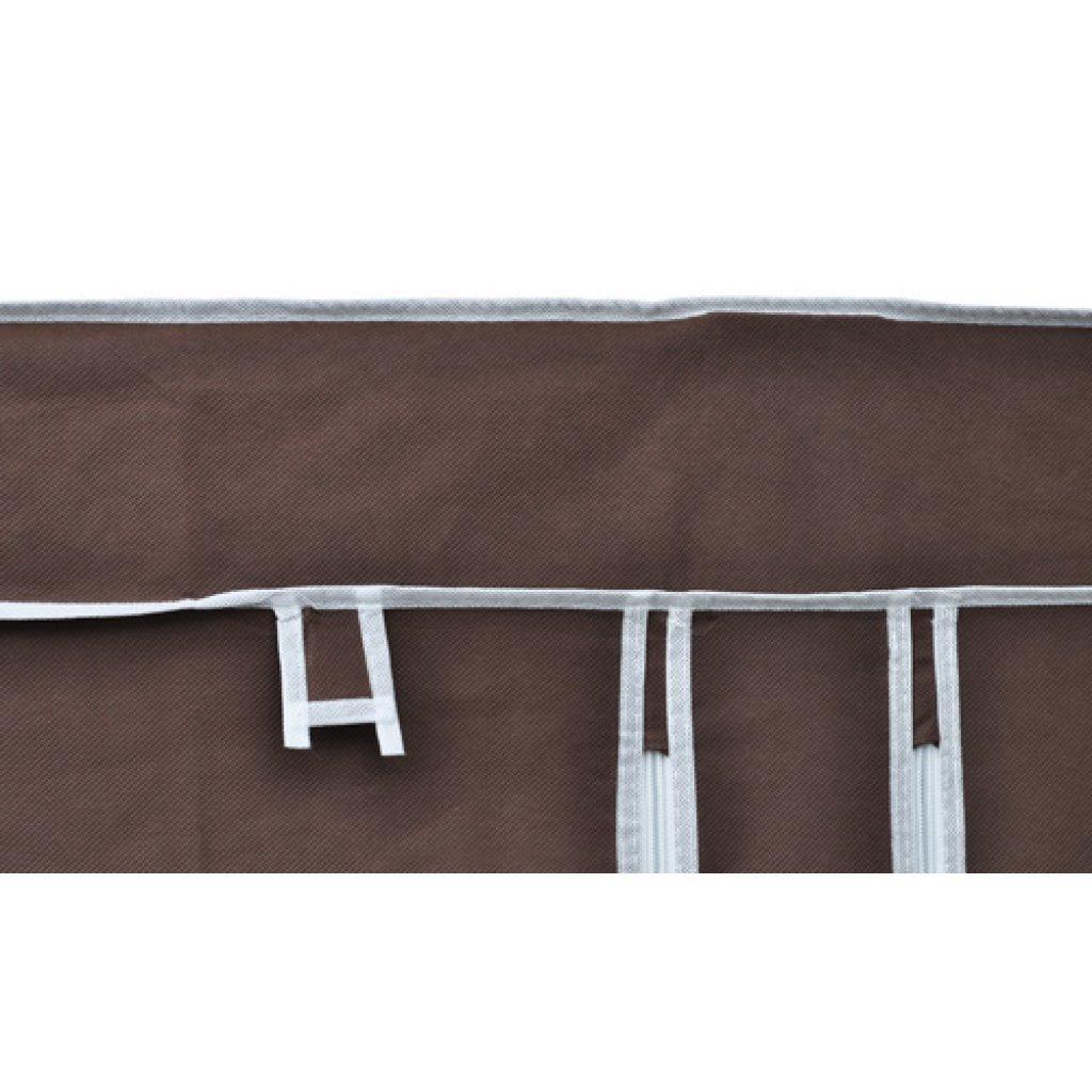 Anself 2er Set Stoffschrank Kleiderschrank Faltschrank 110cmx45cmx175cm Braun