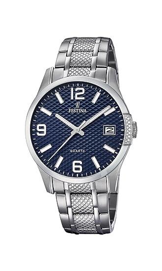 Festina Reloj Análogo clásico para Hombre de Cuarzo con Correa en Acero Inoxidable F16981/2: Amazon.es: Relojes