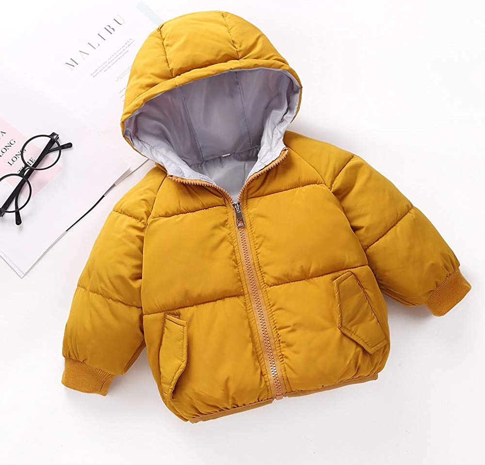 Lurryly❤Unisex Baby Hoodies Hooded Jacket Coat Fall Winter Warm Kids Outerwear Clothes 1-5T