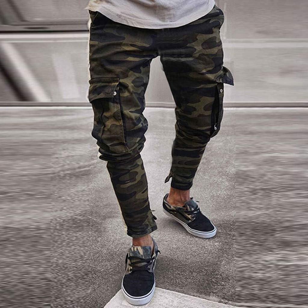 Stretti alla Caviglia Pantaloni Uomo Cargo Taglie Forti Trousers con Tasche SUMTTER Pantalone Uomo Jeans Denim Pants Camo Jeans Uomo Slim Fit