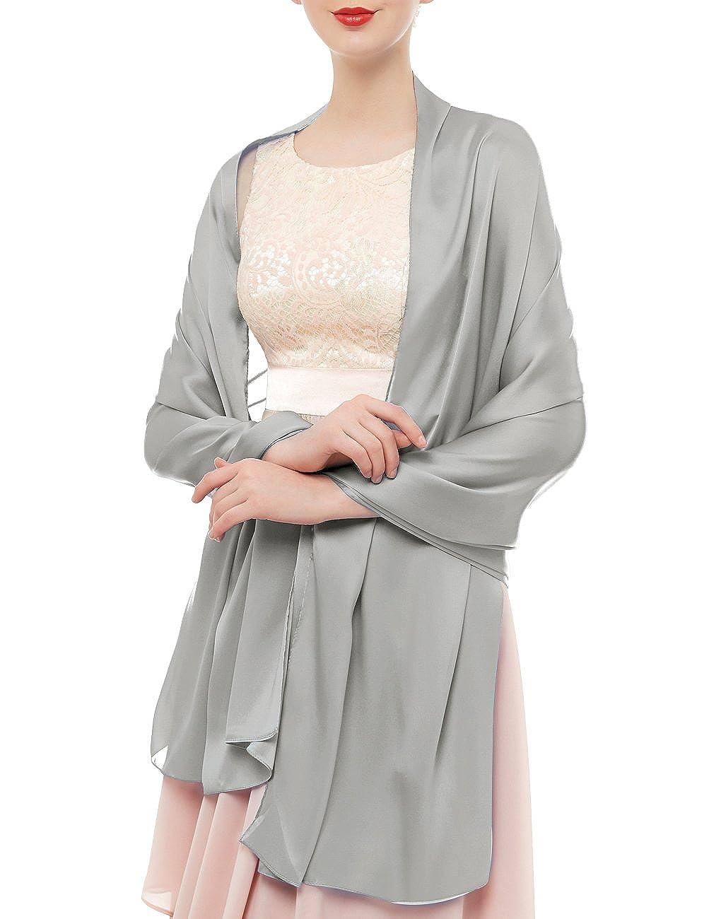 bridesmay Damen Elegant Seidenschal 180 * 90cm Seide Halstuch Stola Schal für Kleider in verschiedenen Farben