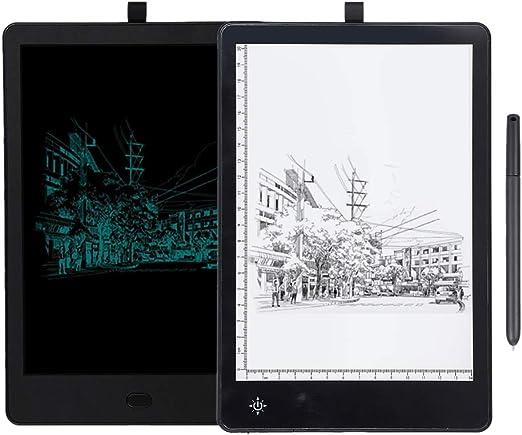 デジタルドローイングパッド、LCDドローイングタブレット、調整可能な色温度ダブルサイドドローイングボードコンピューターグラフィックスタブレット、ペン-同期コンピューター電話