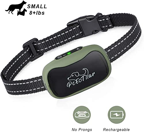 Dog Bark Collar – Humane and Effective Stop Barking, Rechargeable Pet Behavior Collar with Smart Chip for Small Medium Dogs, No Shock No Pain