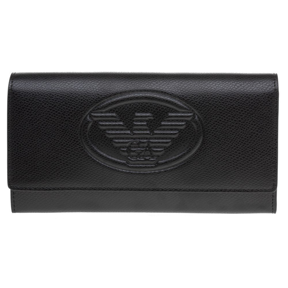 Emporio Armani Embossed Logo Womens Purse Black