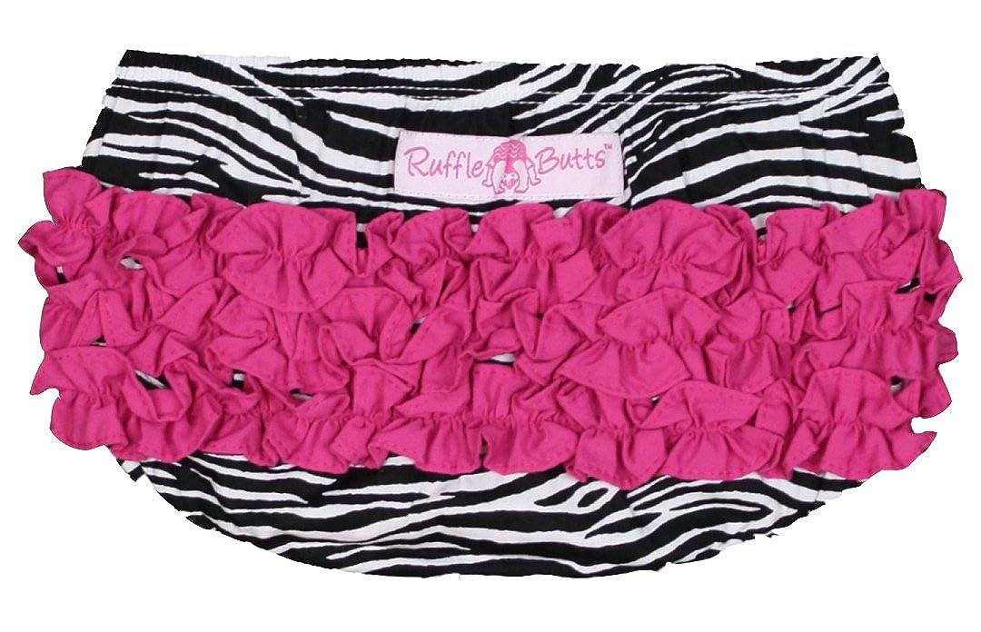 Rufflebutts Baby-girl's Zebra Print Woven Bloomers RBWZE-FU00