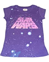 STAR WARS Girls Purple Tee (Small 6/6x)
