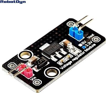 5Pcs Dc 5V To 3.3V Step-Down Power Supply Module AMS1117-3.3 800Ma Ldo ml