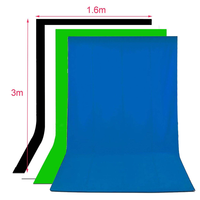 abeststudio ajustable resistente telón de fondo soporte Kit ...