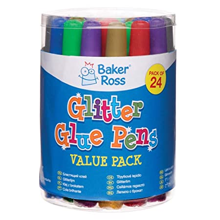 Baker Ross Rotuladores de pegamento con purpurina (pack de 24 ...