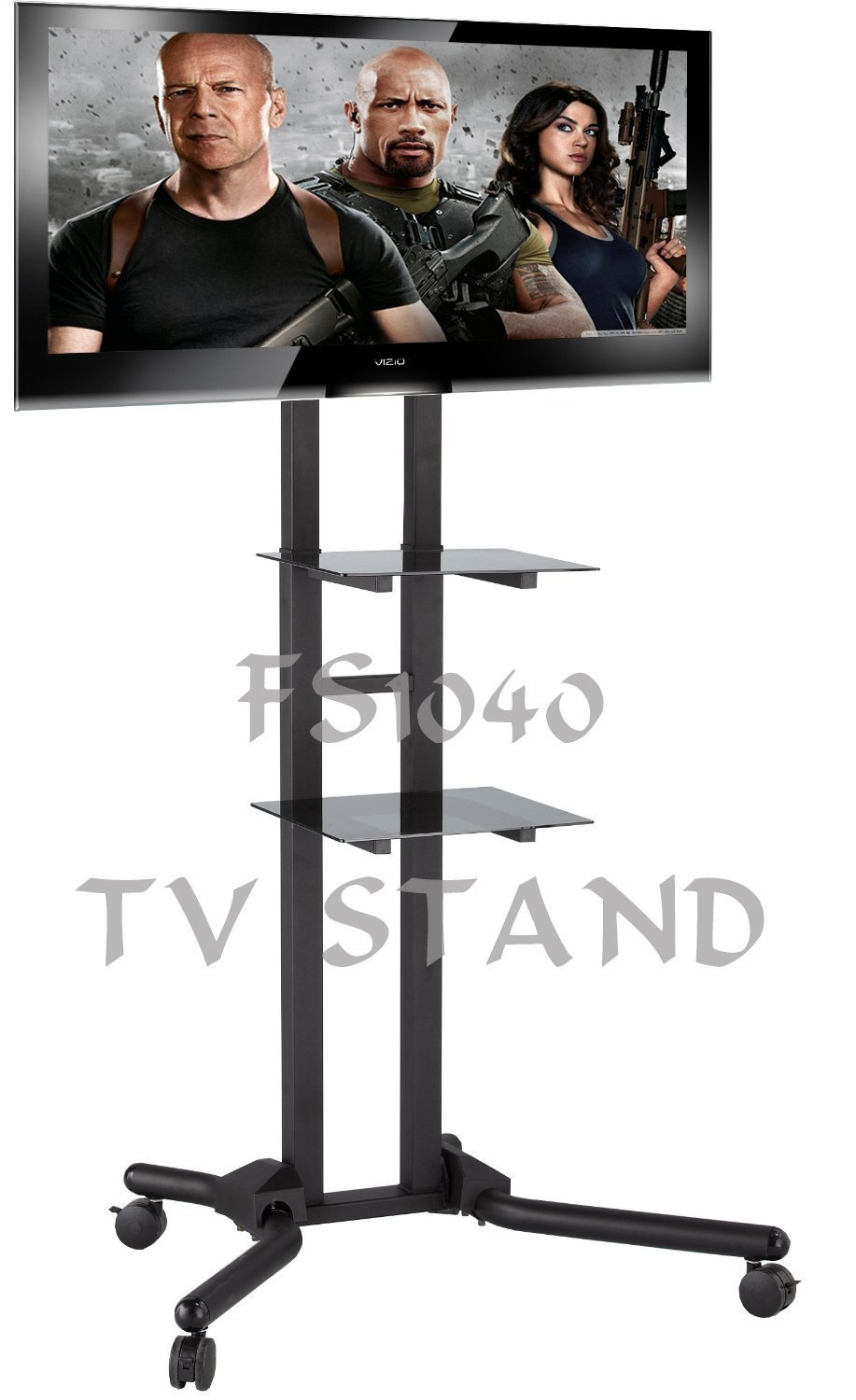 Exhibition Stand Tv : Fs exhibition display stand tv trolley floor