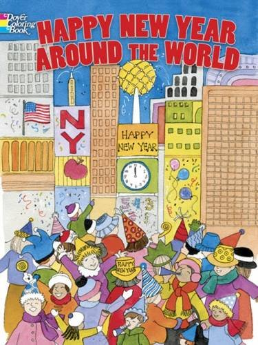 Download Happy New Year Around the World (Dover Holiday Coloring Book) pdf