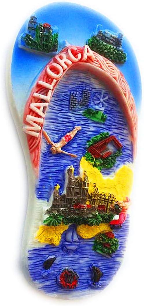 Hqiyaols Souvenir Mallorca Creativo Chanclas España Refrigerador ...