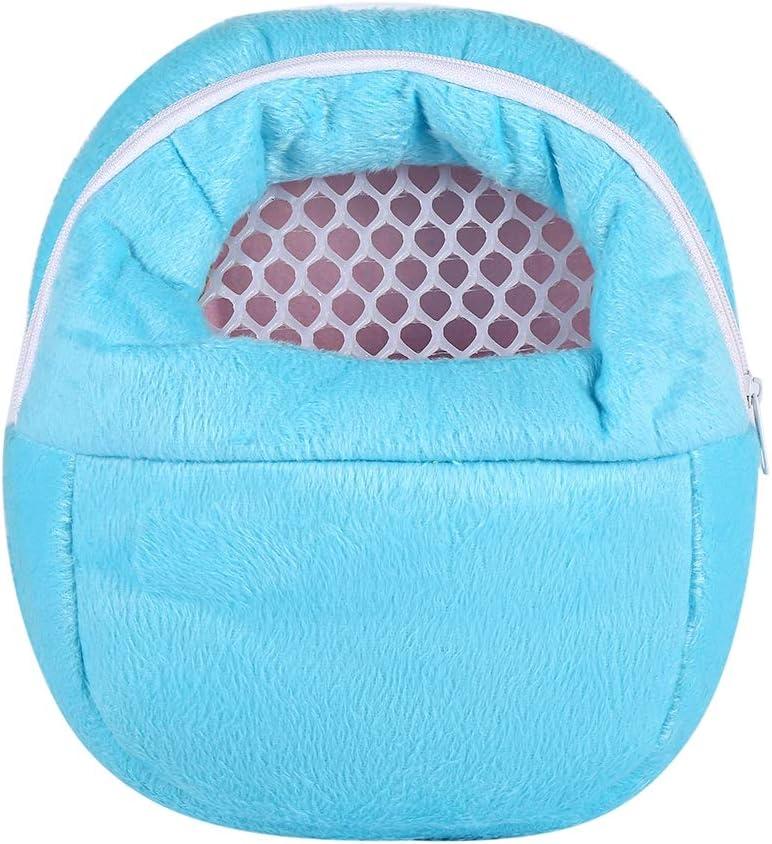 HEEPDD Pet Carrier Bag, Hamster Carrier Portable Breathable Outgoing Travel Bag with Shoulder Strap for Small Pets Hedgehog Sugar Glider Squirrel Rabbit